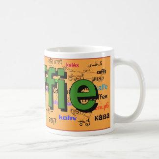 koffie - Coffee in Dutch, green. Map. Coffee Mug