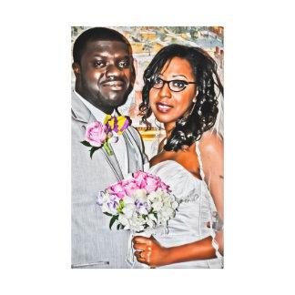 Kofi and Nicole Portrait Canvas Print