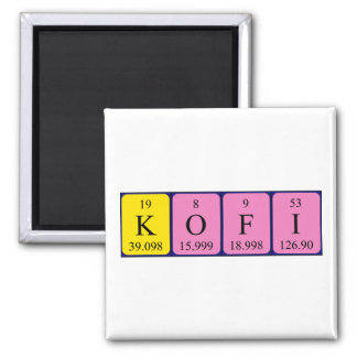 Kofi periodic table name magnet