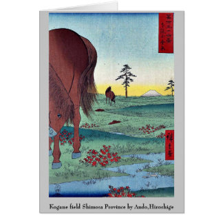 Kogane field Shimosa Province by Ando,Hiroshige Stationery Note Card