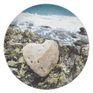 Koh Larn Island - Heart Melamine Plate
