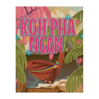 Koh Pha Ngan Thailand travel poster
