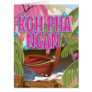 Koh Pha Ngan Thailand travel poster Card