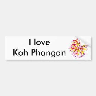 KOH Phangan del fiesta de la Luna Llena Pegatina Para Auto