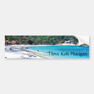 Koh Phangan Island Thailand Car Bumper Sticker