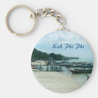 Koh Phi Phi Basic Round Button Keychain