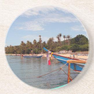 Koh Samui beach Sandstone Coaster