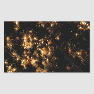 Koh Samui New Year fireworks template Rectangular Sticker