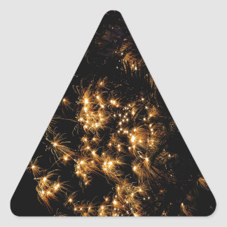 Koh Samui New Year fireworks template Triangle Sticker