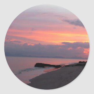 Koh Samui Ocean Sunset in Thailand Classic Round Sticker