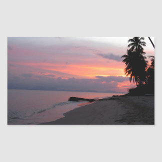 Koh Samui Ocean Sunset in Thailand Rectangular Sticker