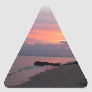 Koh Samui Ocean Sunset in Thailand Triangle Sticker