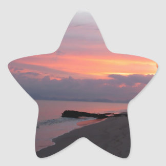 Koh Samui Ocean Sunset in Thailand Star Sticker