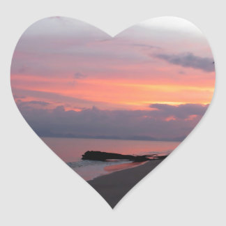 Koh Samui Ocean Sunset in Thailand Heart Sticker
