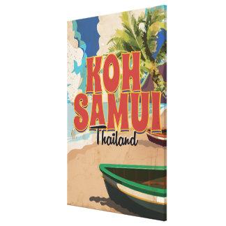 KOH Samui, poster del viaje del vintage de Impresión En Lienzo Estirada