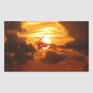 Koh Samui Sunrise in Thailand Rectangular Sticker