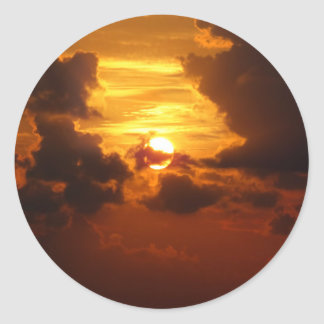 Koh Samui Sunrise in Thailand Classic Round Sticker