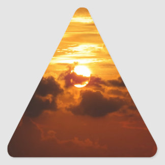 Koh Samui Sunrise in Thailand Triangle Sticker