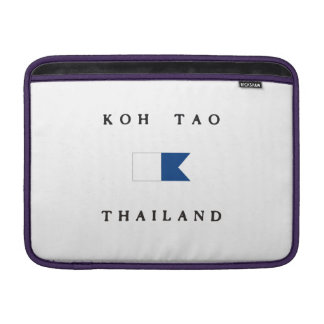 Koh Tao Thailand Alpha Dive Flag Sleeve For MacBook Air