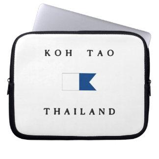 Koh Tao Thailand Alpha Dive Flag Laptop Computer Sleeves