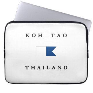Koh Tao Thailand Alpha Dive Flag Computer Sleeves