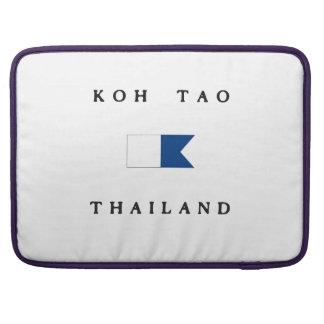 Koh Tao Thailand Alpha Dive Flag Sleeves For MacBooks