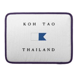 Koh Tao Thailand Alpha Dive Flag Sleeve For MacBook Pro