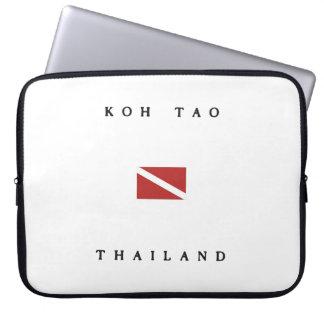 Koh Tao Thailand Scuba Dive Flag Laptop Sleeve