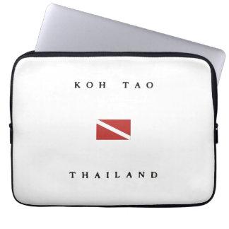 Koh Tao Thailand Scuba Dive Flag Laptop Computer Sleeve