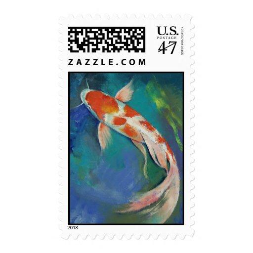 Kohaku Butterfly Koi Stamp
