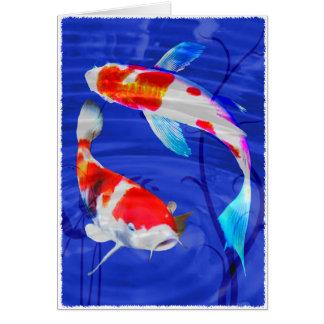 Kohaku Duo in Deep Blue Pond Card