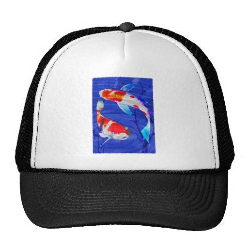 Kohaku Duo in Deep Blue Pond Trucker Hats