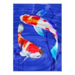 Kohaku Duo in Deep Blue Pond 5x7 Paper Invitation Card
