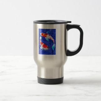 Kohaku Duo in Deep Blue Pond 15 Oz Stainless Steel Travel Mug