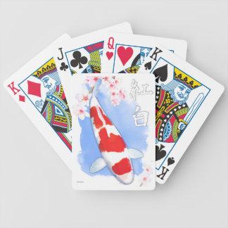 Kohaku Koi Bicycle Playing Cards