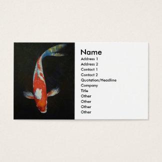 Kohaku Koi Fish Business Card