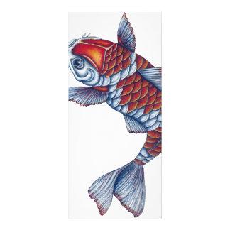 Kohaku Koi Fish Rack Card Design