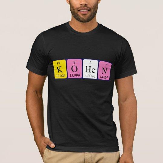Kohen periodic table name shirt zazzle kohen periodic table name shirt urtaz Image collections