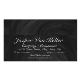 Kohl Black Monogram Personalized Business Card