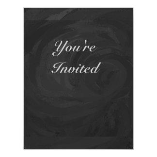Kohl Black Monogram Personalized 4.25x5.5 Paper Invitation Card