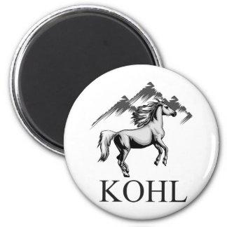 Kohl Colt Logo_BW and Text Magnet