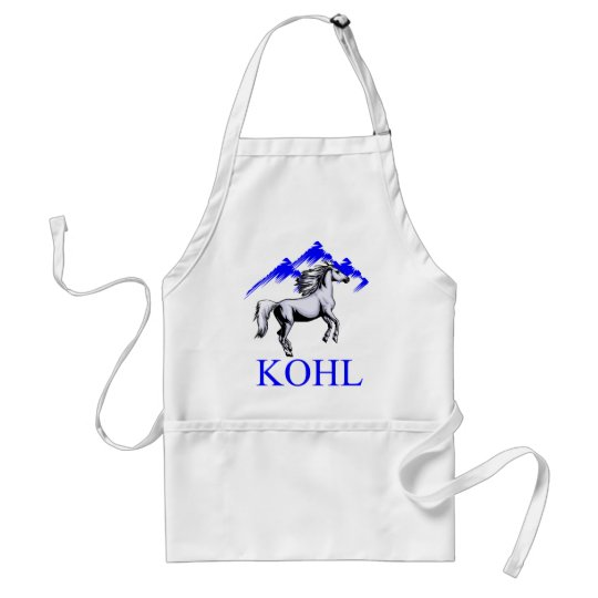 Kohl Colt Logo_Color and Text Adult Apron