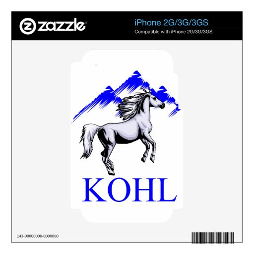 Kohl Colt Logo_Color and Text Decal For iPhone 3GS