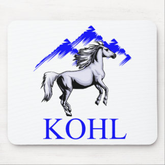 Kohl Colt Logo_Color and Text Mouse Pad