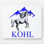 Kohl Colt Logo_Color and Text Mousepads