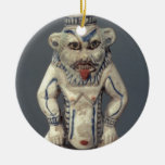 Kohl Pot, depicting the Egyptian household god Bes Ceramic Ornament