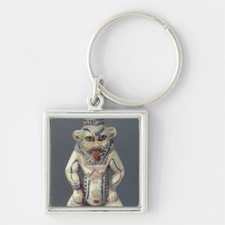 Kohl Pot, depicting the Egyptian household god Bes Keychain