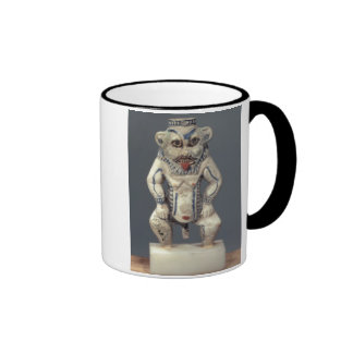 Kohl Pot depicting the Egyptian household god Bes Coffee Mugs