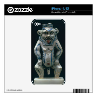 Kohl pot in the form of the god Bes, New Kingdom, Decal For iPhone 4