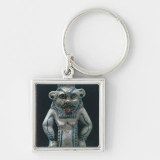 Kohl pot in the form of the god Bes, New Kingdom, Keychain